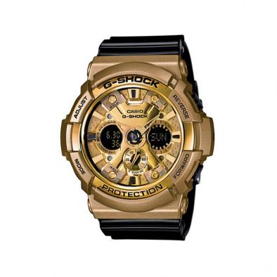 Мъжки спортен часовник Casio G-SHOCK златист с черна каишка
