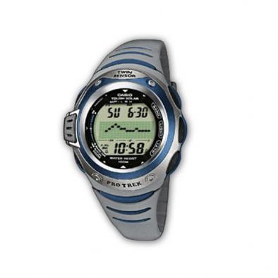Мъжки часовник Casio Pro Trek сив със соларен механизъм