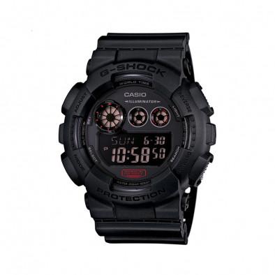Мъжки спортен часовник Casio G-SHOCK черен със световно време