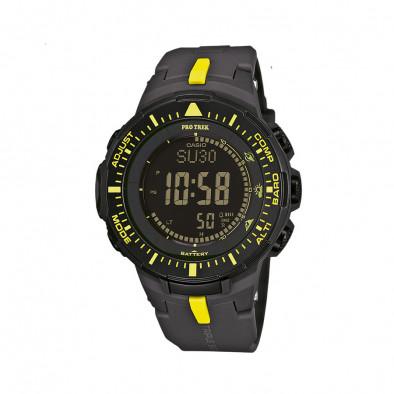 Мъжки часовник Casio Pro Trek черен с жълти детайли