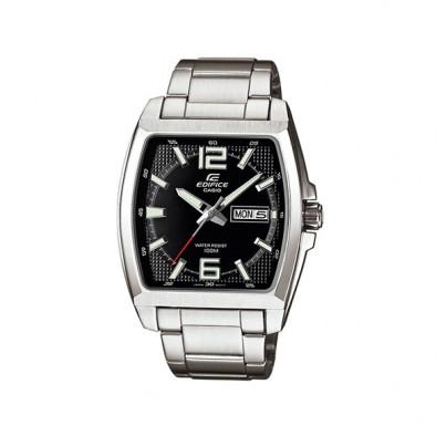 Мъжки часовник Casio Edifice сребрист с правоъгълен циферблат