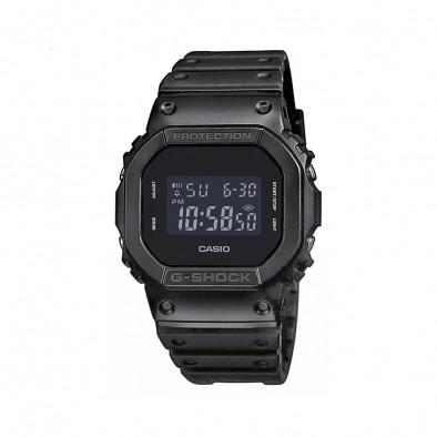 Мъжки часовник Casio G-SHOCK черен с правоъгълен дисплей