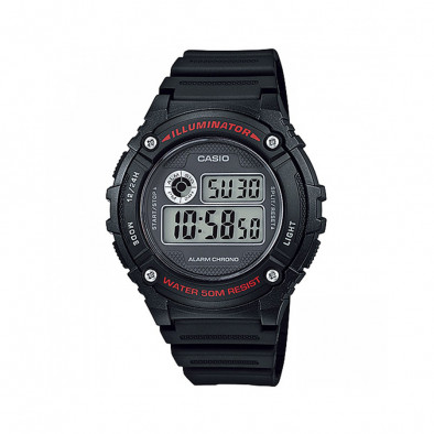 Мъжки часовник Casio Collection черен с електронен дисплей