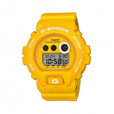 Мъжки спортен часовник Casio G-SHOCK жълт с бели надписи