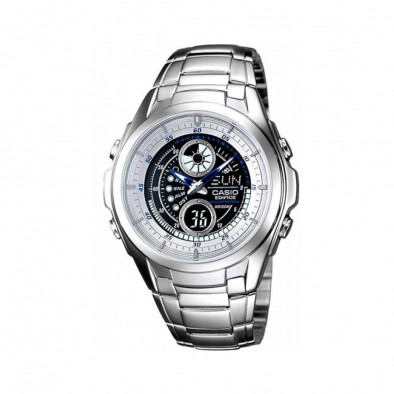 Мъжки часовник Casio Edifice сребрист браслет с мултифункционален циферблат