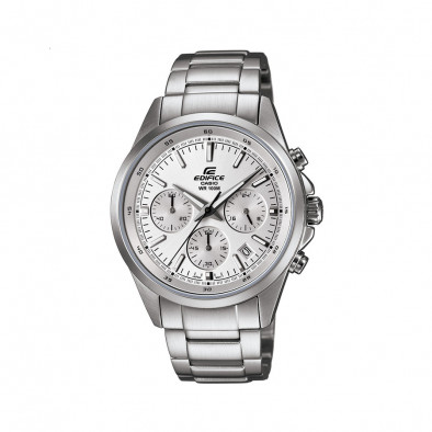 Мъжки часовник Casio Edifice сребрист браслет със сребрист циферблат