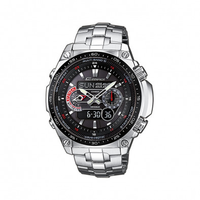 Мъжки часовник Casio Edifice сребрист браслет с радио сверяване
