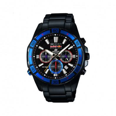 Мъжки часовник Casio Edifice черен браслет с хронометър