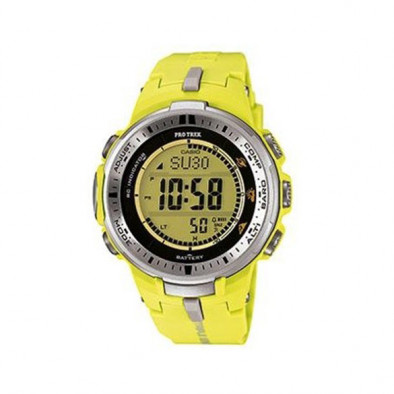 Мъжки часовник Casio Pro Trek жълт с радио сверяване