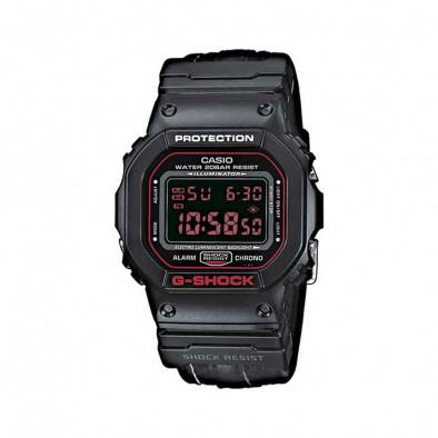 Мъжки спортен часовник Casio G-SHOCK черен с правоъгълен дисплей
