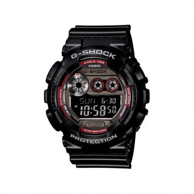 Мъжки спортен часовник Casio G-SHOCK черен с червени детайли на циферблата