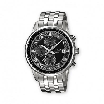 Мъжки часовник Casio Beside сребрист браслет с римски цифри