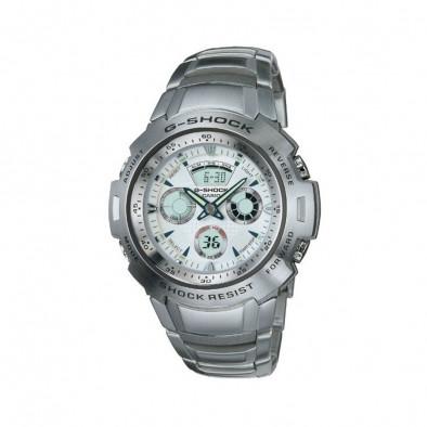 Мъжки часовник Casio G-SHOCK сив стоманен браслет