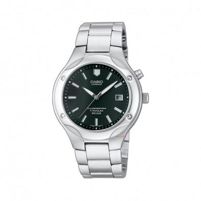 Мъжки часовник Casio Collection сребрист браслет с луминисцентно покритие