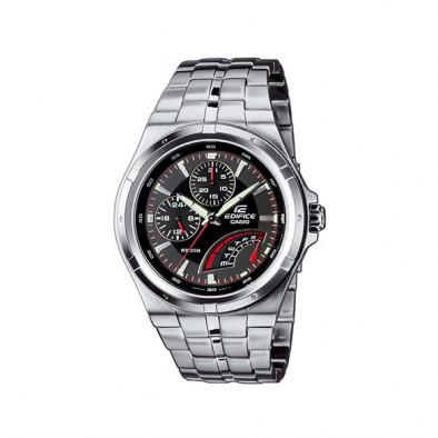 Мъжки часовник Casio Edifice сребрист браслет с механизъм кварцов хронограф