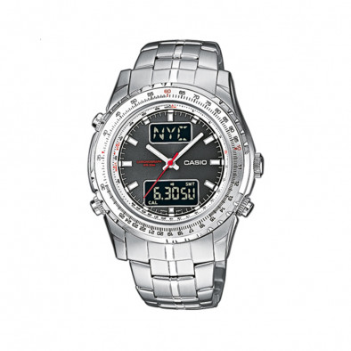 Мъжки часовник Casio Collection сребрист браслет с червена стрелка за секундите