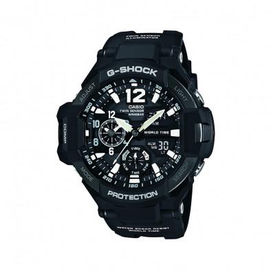 Мъжки спортен часовник Casio G-SHOCK черен с термометър