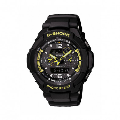 Мъжки спортен часовник Casio G-SHOCK черен с жълти стрелки