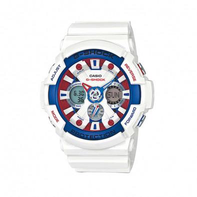 Мъжки спортен часовник Casio G-SHOCK бял с разноцветни елементи на касата