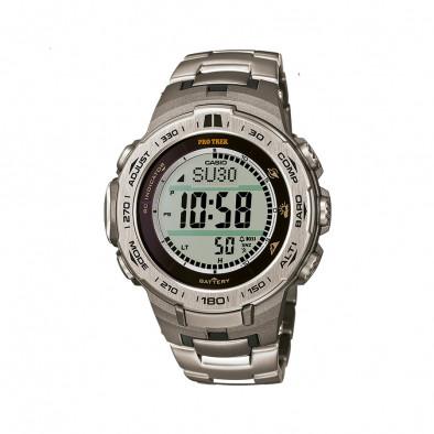 Мъжки часовник Casio Pro Trek стоманен сребрист браслет