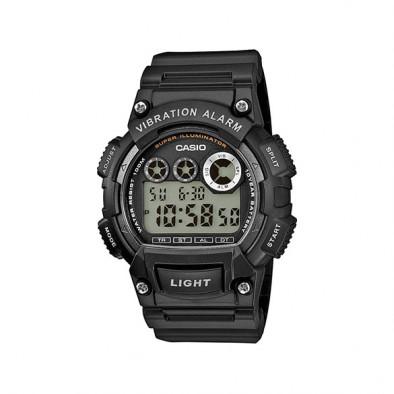 Мъжки часовник Casio Collection черен с вибрация