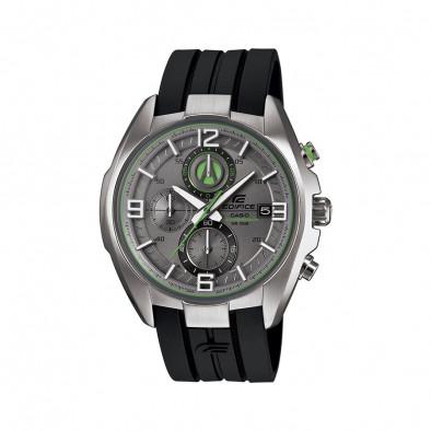 Мъжки часовник Casio Edifice черен със сив циферблат