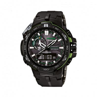 Мъжки часовник Casio Pro Trek с неоново зелени детайли