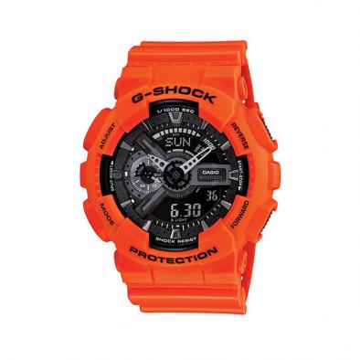 Мъжки спортен часовник Casio G-SHOCK оранжев с черен циферблат