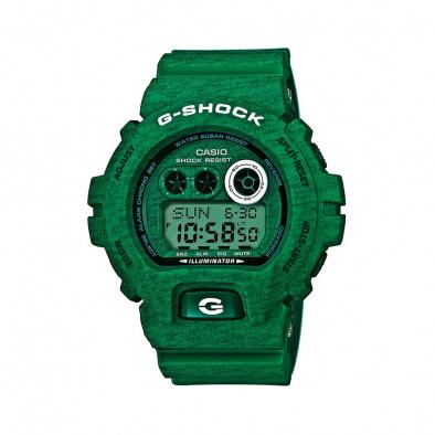 Мъжки спортен часовник Casio G-SHOCK зелен с двуцветни надписи
