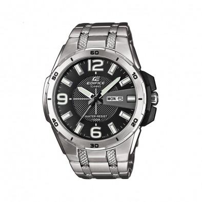 Мъжки часовник Casio Edifice сребрист браслет със сиви цифри