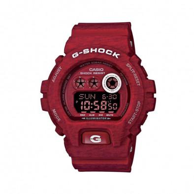Мъжки спортен часовник Casio G-SHOCK червен с бели надписи