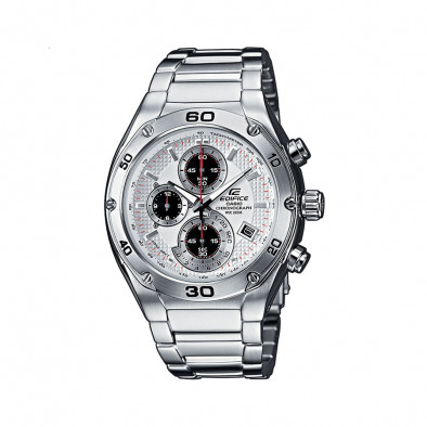 Мъжки часовник Casio Edifice сребрист браслет със завиваща се коронка