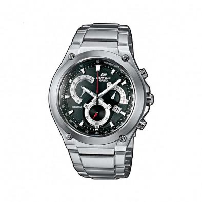 Мъжки часовник Casio Edifice сребрист браслет с дисплей на дата и ден