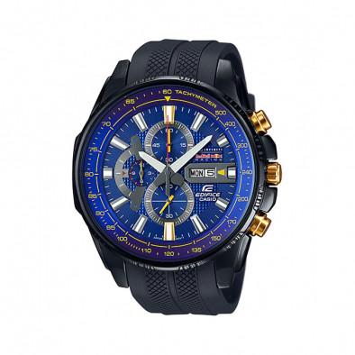 Мъжки часовник Casio Edifice черен със златисти бутони