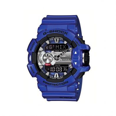 Мъжки спортен часовник Casio G-SHOCK лилав с черни детайли
