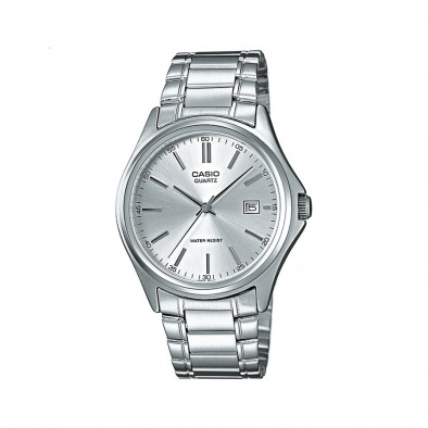Мъжки часовник Casio Collection сребрист браслет с бял циферблат