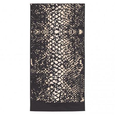 Черна плажна кърпа със змийска шарка tsf120416-3 2