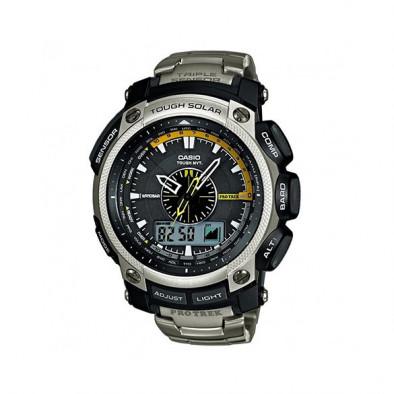 Мъжки часовник Casio Pro Trek сребрист с алтиметър