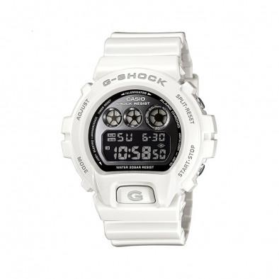 Мъжки спортен часовник Casio G-SHOCK бял с черен дисплей