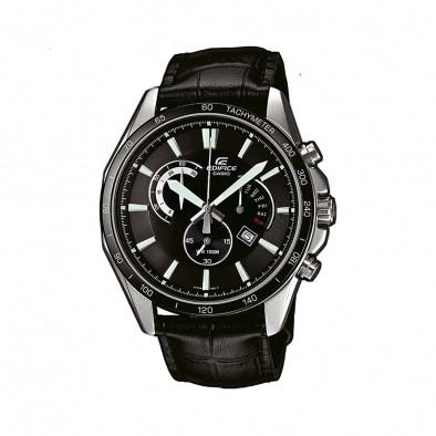 Мъжки часовник Casio Edifice черен с показване на дата и ден