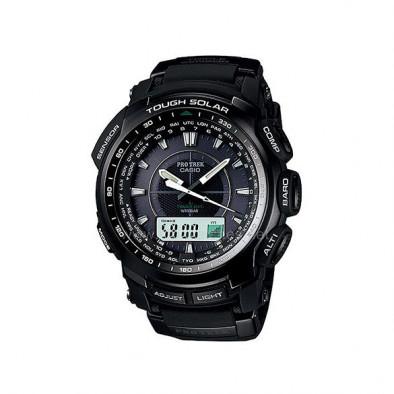 Мъжки часовник Casio Pro Trek  черен със сверяване чрез радио сигнал
