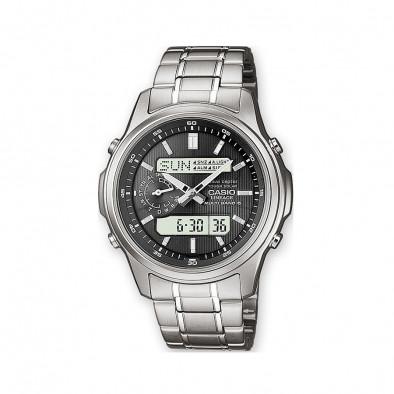 Мъжки часовник Casio Lineage сребрист с черен циферблат