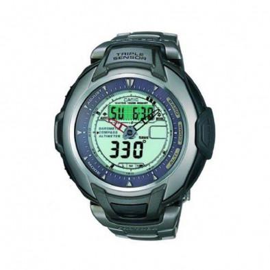 Мъжки часовник Casio Pro Trek с титаниев корпус и верижка
