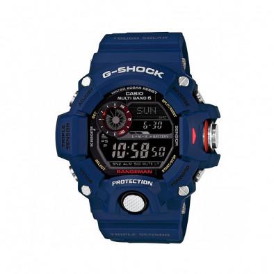 Мъжки спортен часовник Casio G-SHOCK син със соларно зареждане
