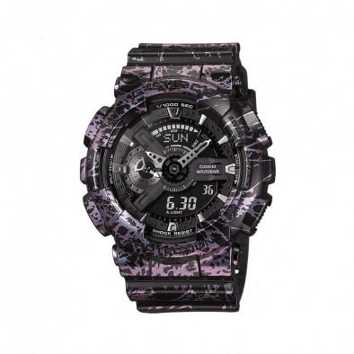 Мъжки спортен часовник Casio G-SHOCK черно-лилав