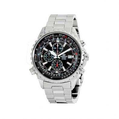 Мъжки часовник Casio Edifice сребрист браслет с 12/24 часов формат