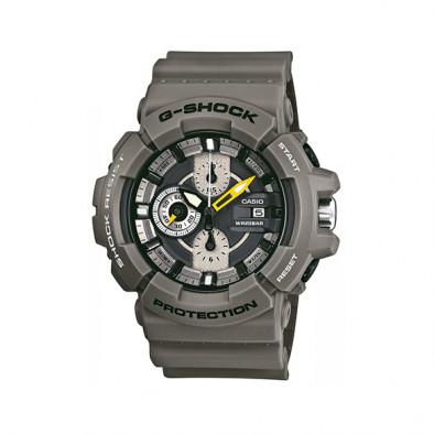 Мъжки спортен часовник Casio G-SHOCK сив с жълта стрелка за минутите