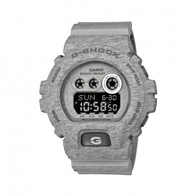 Мъжки спортен часовник Casio G-SHOCK сив с тъмно сиви надписи