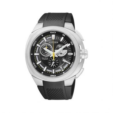 Мъжки часовник Citizen титаниев с черна каучукова каишка