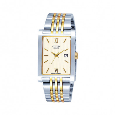 Quartz Gold Dial Two-Tone Quatz Men's Watch BH1378-50A